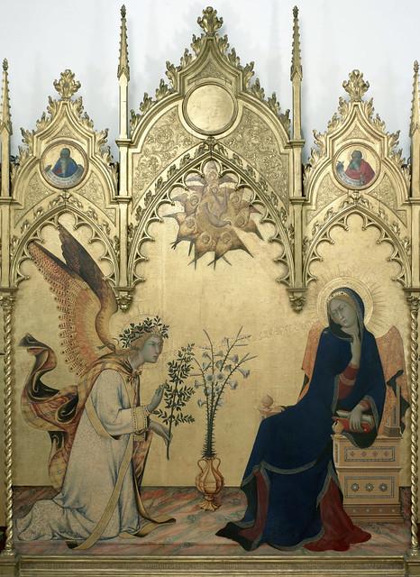 Simone Martini & Lippo Memmi - Annunciazione, detail
