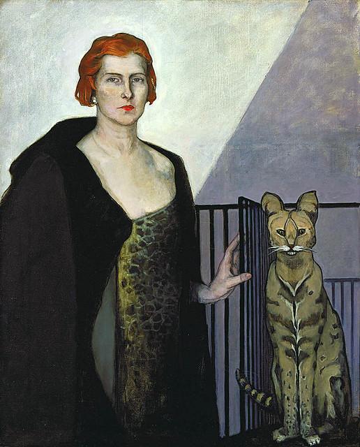 Brooks, Romaine  (American, 1874-1970)  - Baronesse Emile d'Erlanger   - 1924