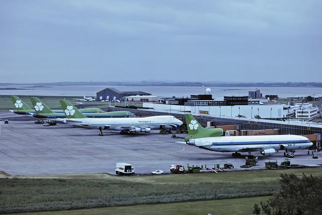 L1011 N190AT & 3 x 747 AER LINGUS