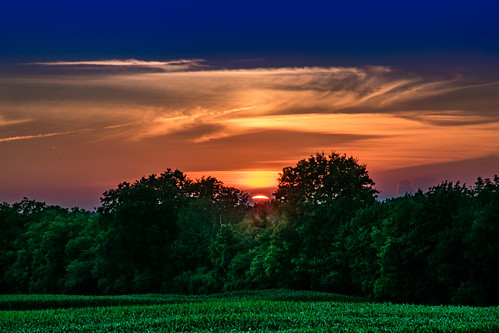 sunset summer ny hot colors field evening dusk farm away upstate pittsford humid slipping wamr
