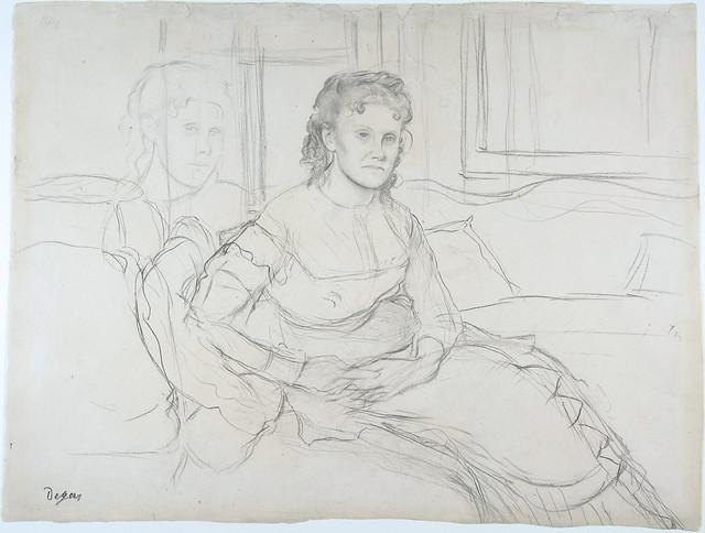 Edgar Degas - Study for Mme Theodore Gobillard née Yves Morisot [1869]