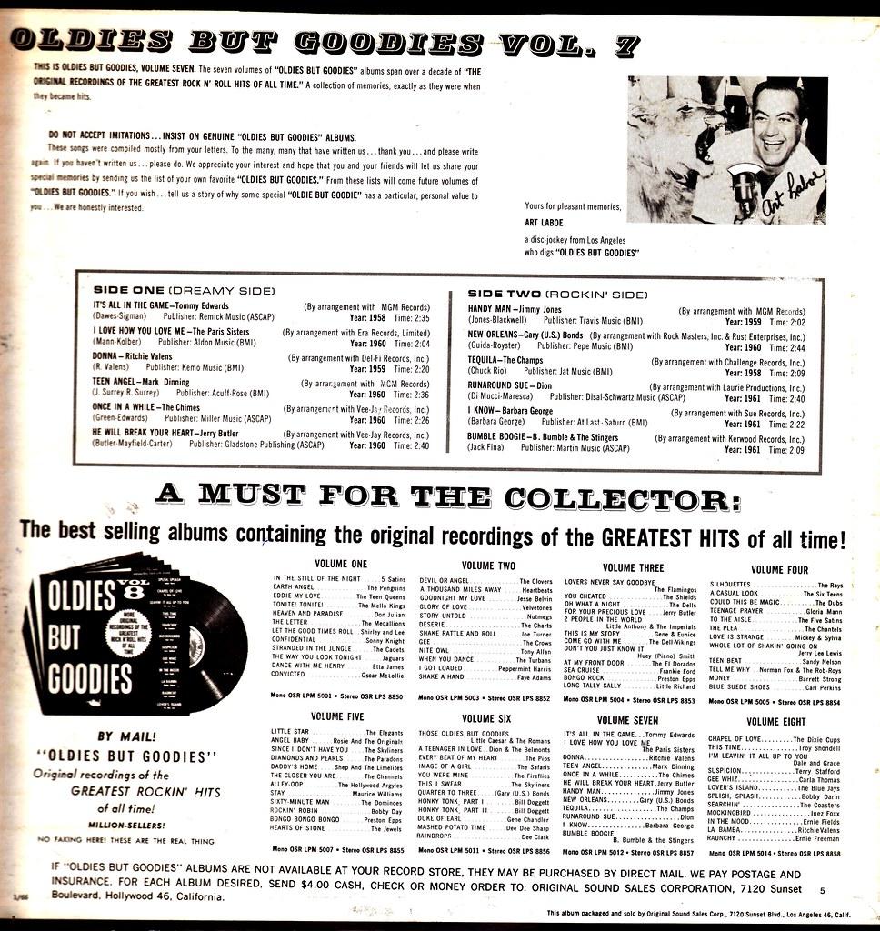 Various - Oldies But Goodies - Vol 7 - US - 1966- | Klaus