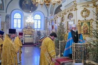 Литургия в Покровском соборе 100