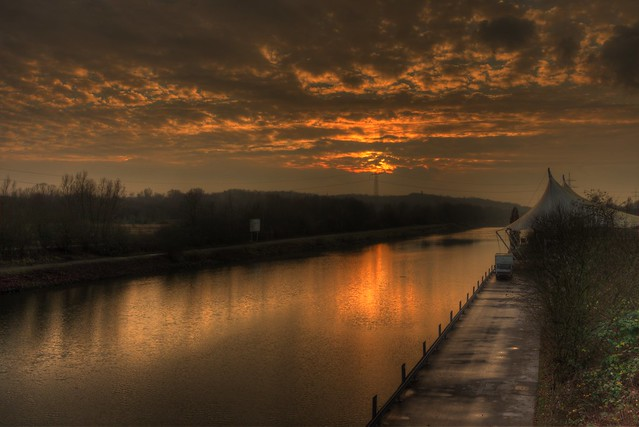 Rhein-Herne-Kanal Sonnenuntergang