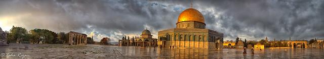 Morning Sun Saqarah Al Aqsa, Jerusalem, Israel - XR6A7923 Panorama