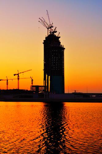 sunset sea orange bahrain explore colourful manama bulding kingfaisalhighway 2011 fotocompetitionfotocompetitionbronze