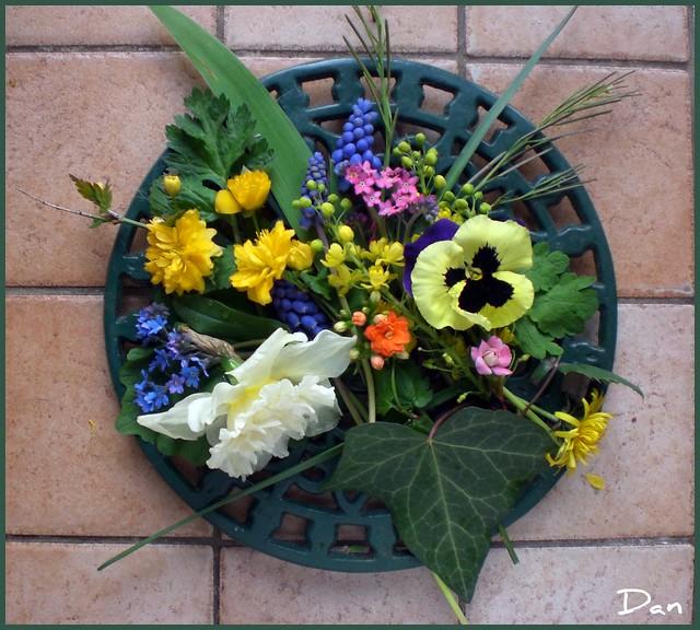 Composition fleurs de printemps
