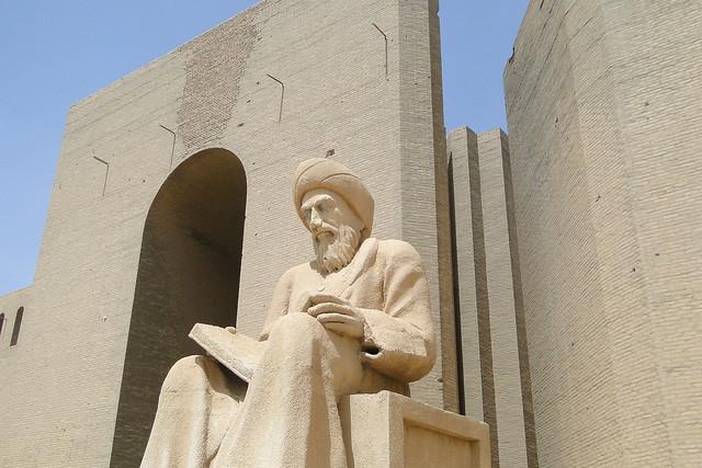 Statue of Mubarak Ben Ahmed Sharaf-Aldin (1169-1239) - Historian - Citadel - Erbil - Iraq