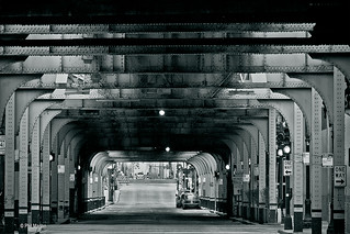 under the El train - Chicago | by Phil Marion