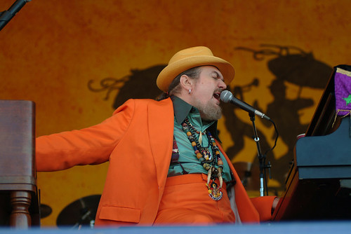 Dr John at Jazz Fest 2005. Photo Leon Morris.