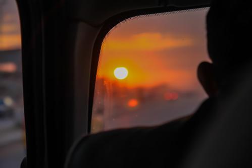 sunset iraq najaf irak