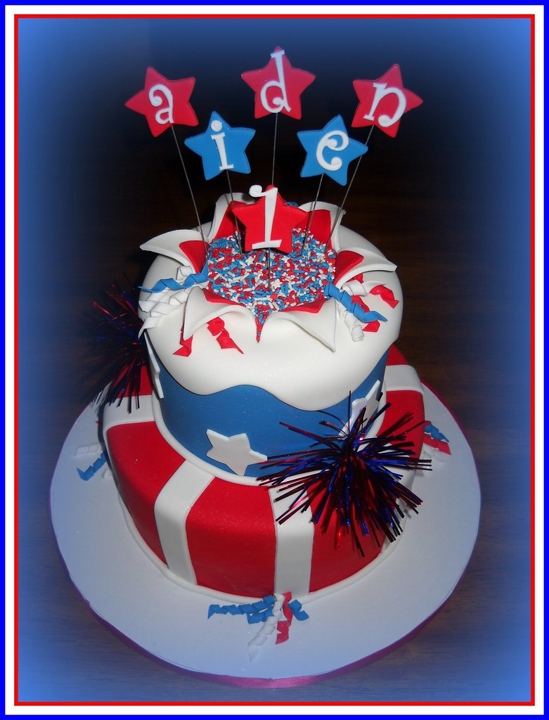 Aiden- 4th of July Birthday Cake | First time trying the