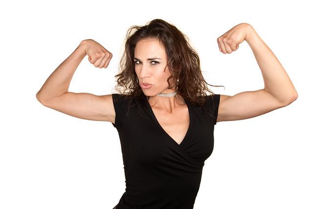 Michele Bauer, MODEL & ACTRESS - Photo Shoot: Pretty woman flexing