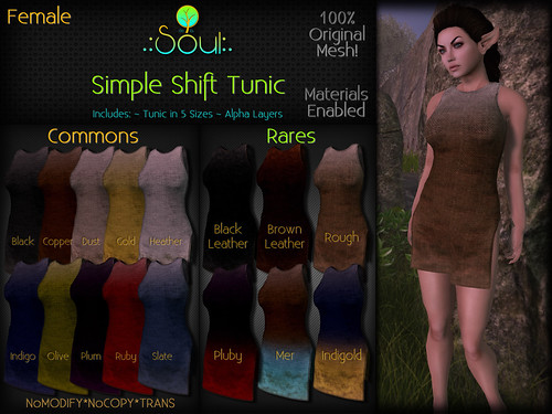2014 Simple Shift Tunic Gatcha Female | by .:Charlie:. of .:Soul:.
