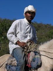 Cowboy - Vaquero en el camino entre Ameca y San Rafael de las Tablas; Zacatecas, Mexico