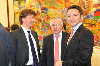 Borys Tarasuk and Kristian Vigenin together with Gerben-Jan Gerbandy | by European Parliament