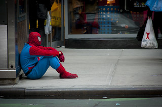 Sad Spiderman | by pressthebigredbutton