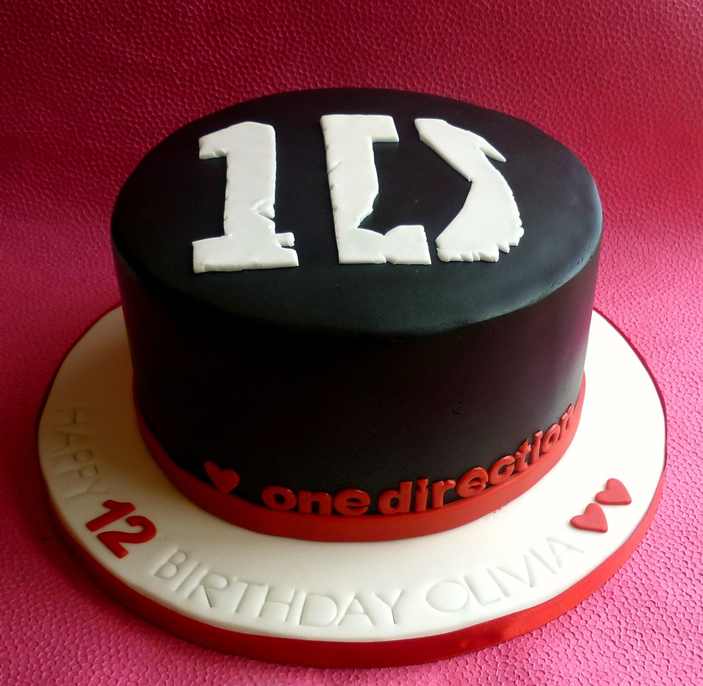 Pleasant One Direction Birthday Cake One Direction Themed Cake De Flickr Personalised Birthday Cards Paralily Jamesorg