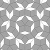 If made with rhombs with 3' sides, this should work out to be right at 25' square.  Image created from PDF files generated by Alan Schoen. Used with permission.  Visit domesticat.net/quilts/penrose to learn about the Penrose Quilt Challenge and how to participate.