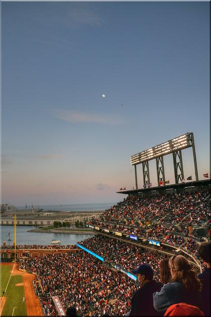 Moonrise over the Ballpark
