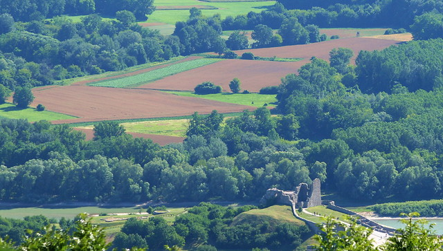 Devin Castle Ruins and Austrian Field Landscape