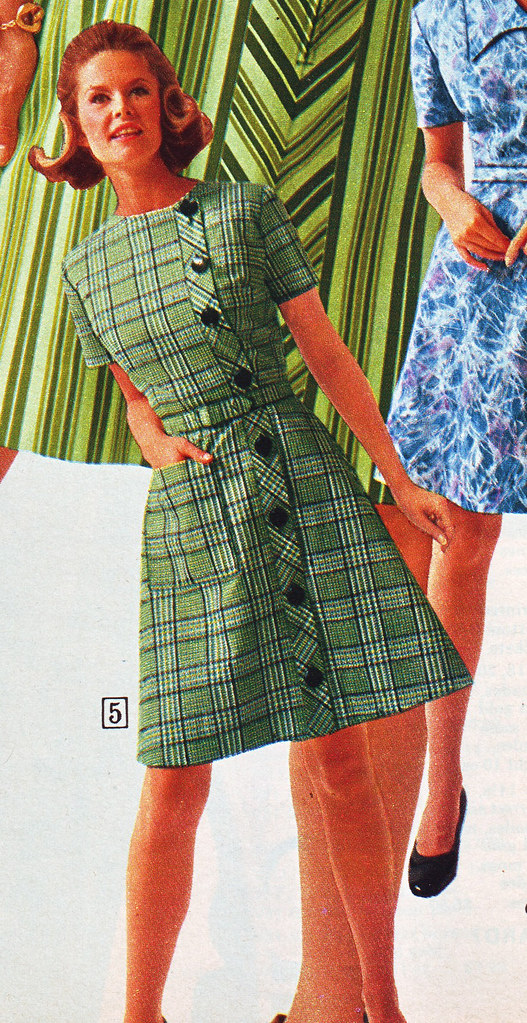 feea3e2c03b sears 69 fw green plaid dress | jsbuttons | Flickr