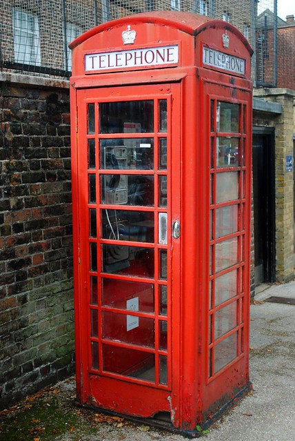 The classic red phone box at Harrow on the Hill