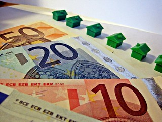 Euro Notes and Houses   by Images_of_Money