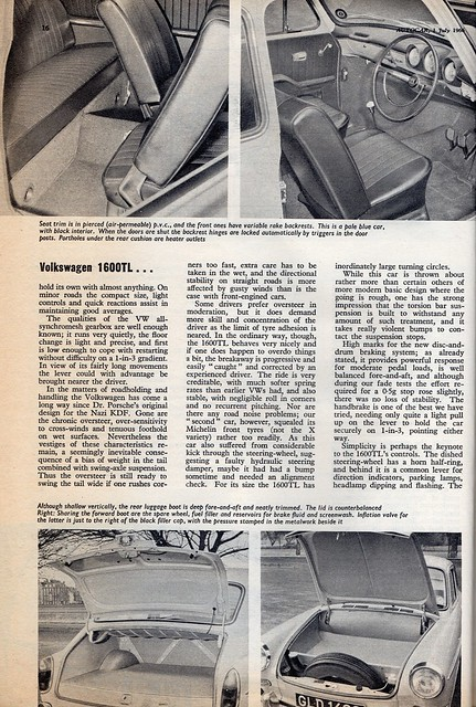 Volkswagen 1600 TL Fastback Road Test 1966 (4)