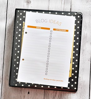 Free Blog Ideas Printable | www.fussfreecooking.com | by fussfreecooking