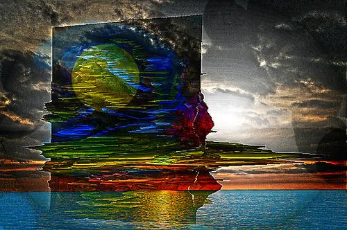 Amanecer abstracto