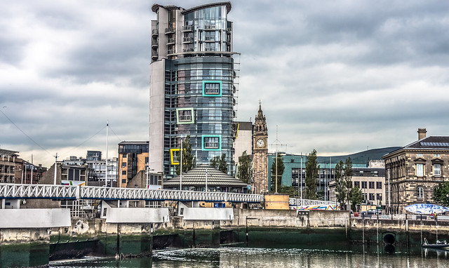THE LAGAN - WATERFRONT AREA OF BELFAST CITY