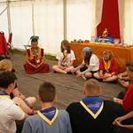 Ganna Leads a Meditation Session