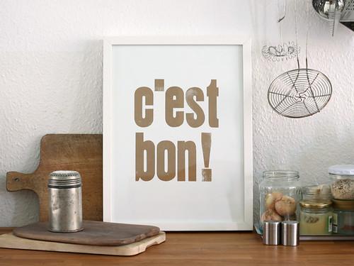 c'est_bon_letterpress_640 | by sa_su (small caps)