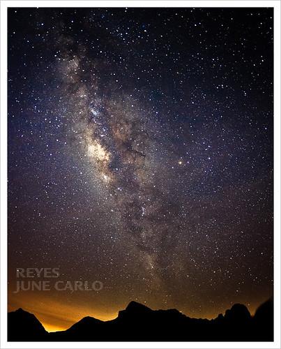 stars landscape galaxy batulao milkyway