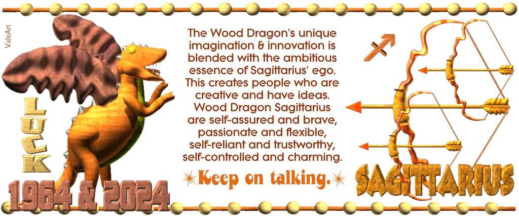 ValxArt's 1964 2024 Wood Dragon Sagittarius w  astrology h