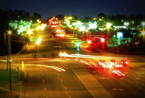 road street red white car night drive cool colorful long exposure shot traffic bright headlight 8seconds peterscreek silascreek nikoncoolpixp100