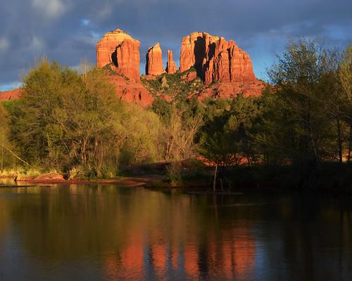 arizona landscape unitedstates sedona landmark northamerica cathedralrock 5018