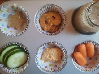 Muffin Tin Monday: Hummus and Veggies | by Jessica Rodarte