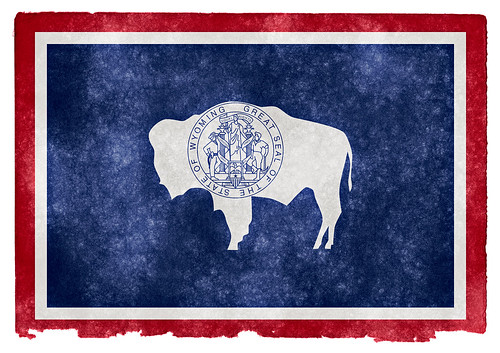 Wyoming Grunge Flag | by Free Grunge Textures - www.freestock.ca