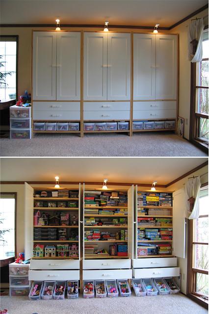 Playroom Closet Shelving