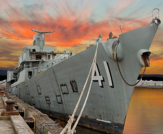 HMAS Brisbane at Sunset=