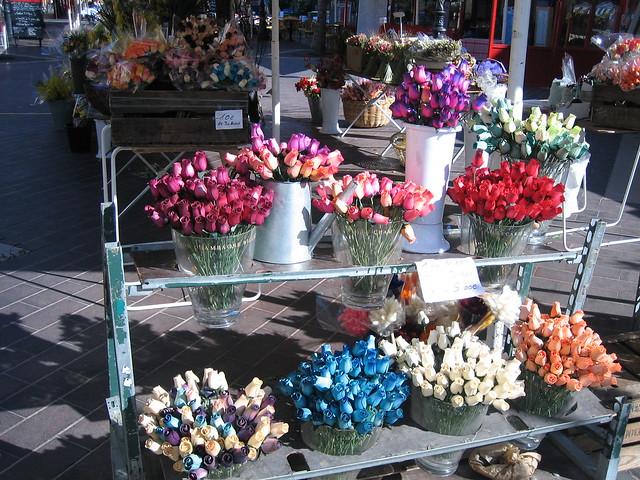 Dried flowers in Nice flower market