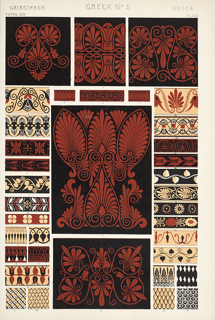 "Image Plate from Owen Jones' 1853 classic, ""The Grammar of Ornament""."