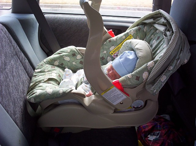 Isaac in Car Seat