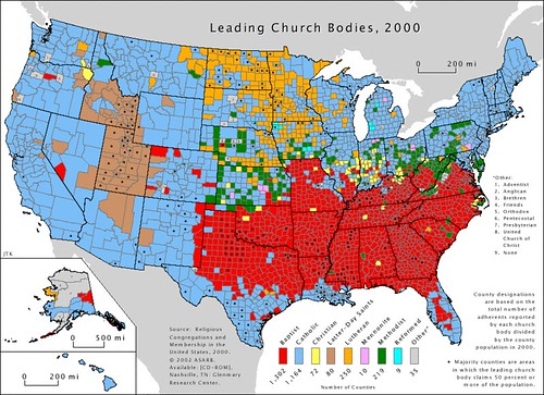 US Religion: Church Bodies | by fboosman