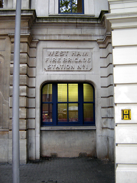 West Ham Fire Brigade Station, Stratford | This entrance/exi