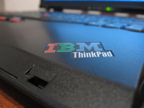 IBM Thinkpad Logo close up   by eMaringolo