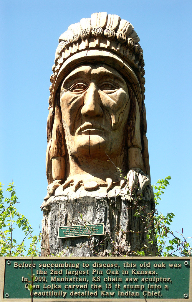 Kaw Chief Tree Carving - Wamego KS City Park - 2006 | Flickr