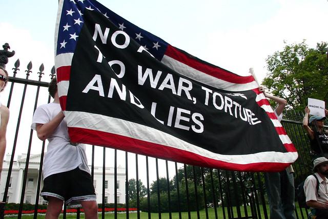 No allegiance to war, torture and lies